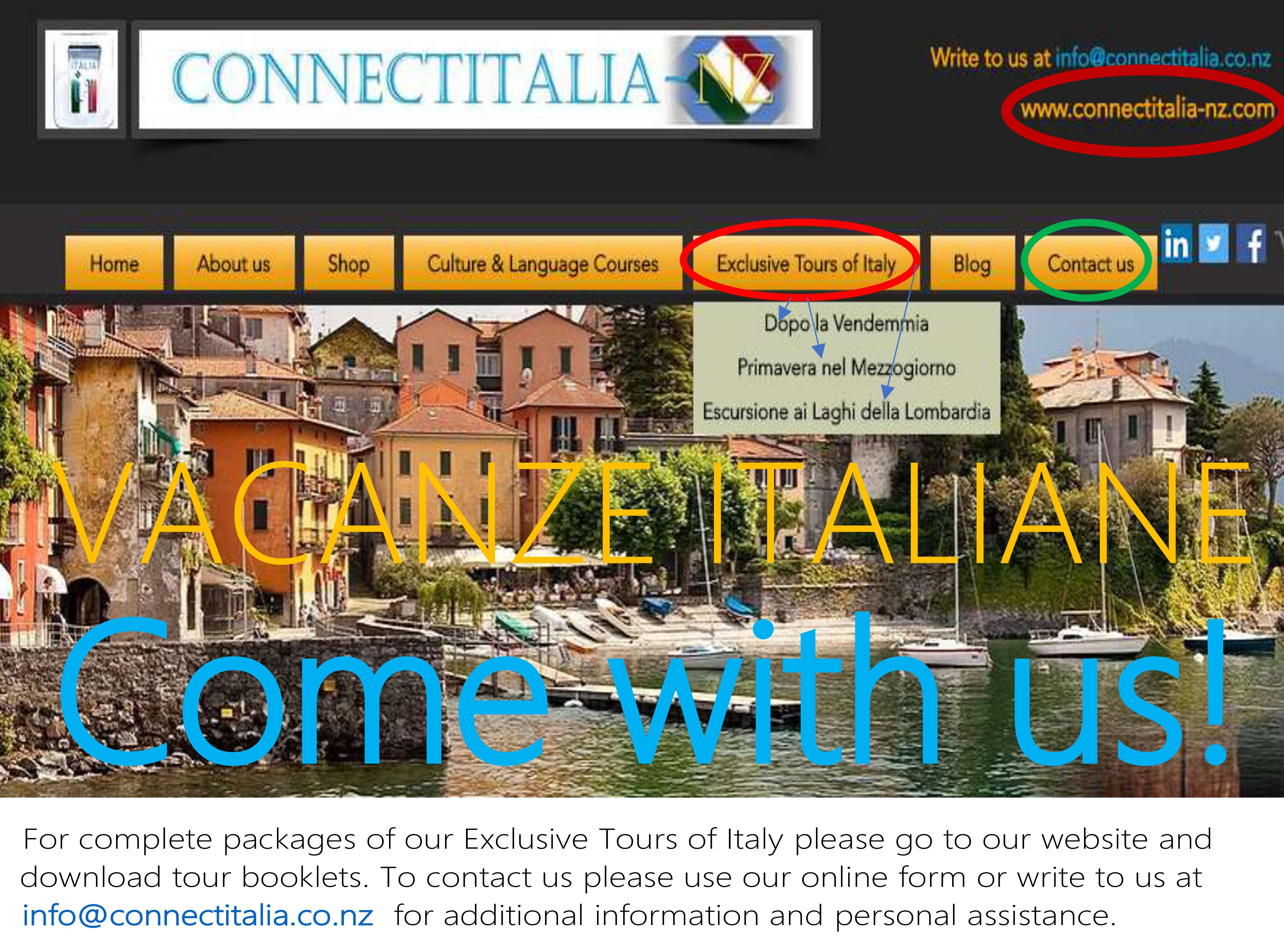 Connect Italia NZ - Exclusive tours of Italy