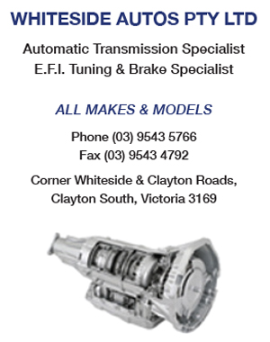 Whiteside Autos - Clayton - PHONE (03) 9543 5766